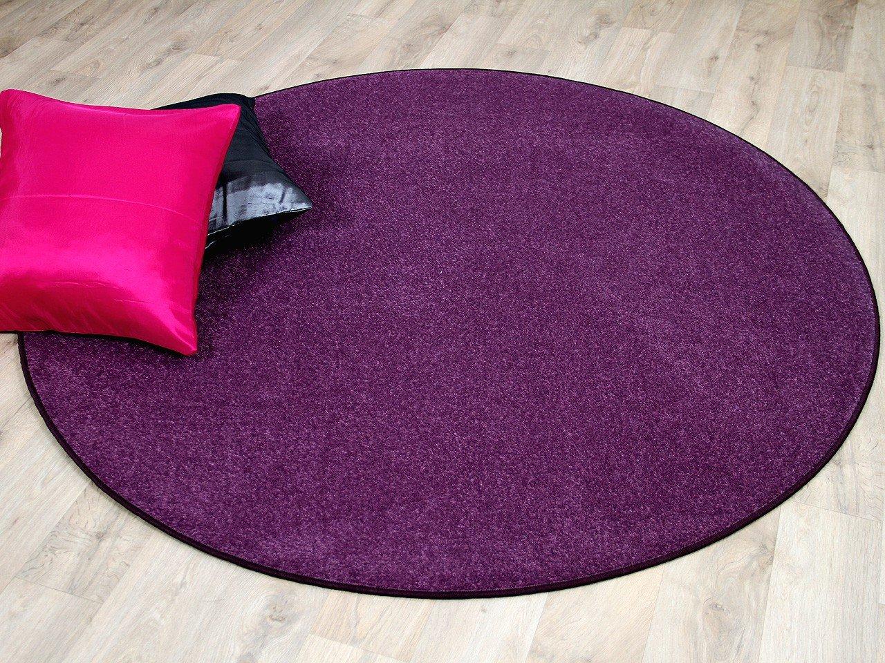 Trend Velour Teppich Joy Lila Rund in 7 Größen