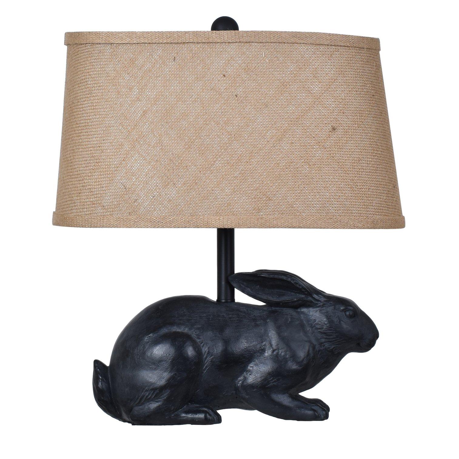 Crestview Collection Rabbit Black Animal Sculpture Table Lamp