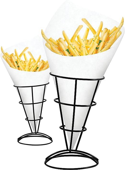 Amazon.com: Soporte de 2 piezas para patatas fritas y ...