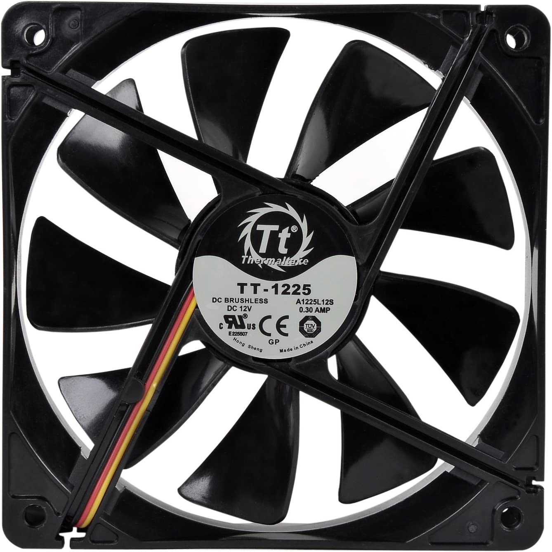 Thermaltake 120mm Pure 12 Series Black Quiet High Airflow Case Fan CL-F011-PL12BL-A