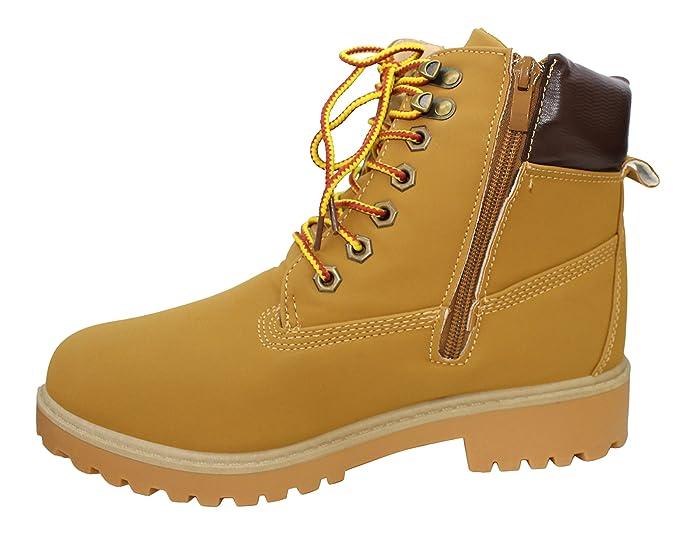 WS Boots Damen Kniestrümpfe Stil Rangers LÉA, Schwarz - Schwarz - Größe: 36