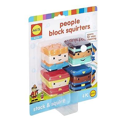 Alex Bath People Block Squirters Kids Bath Toy: Toys & Games