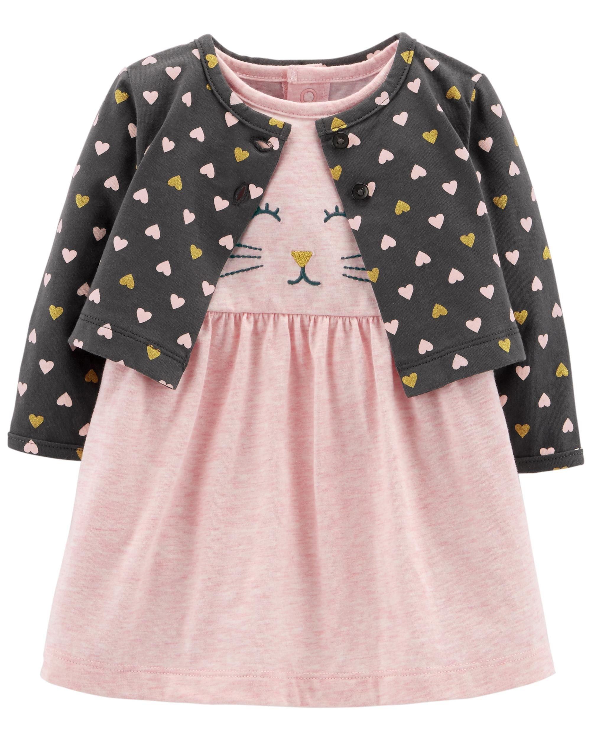 Carter's Baby Girls 2 Piece Bodysuit Dress and