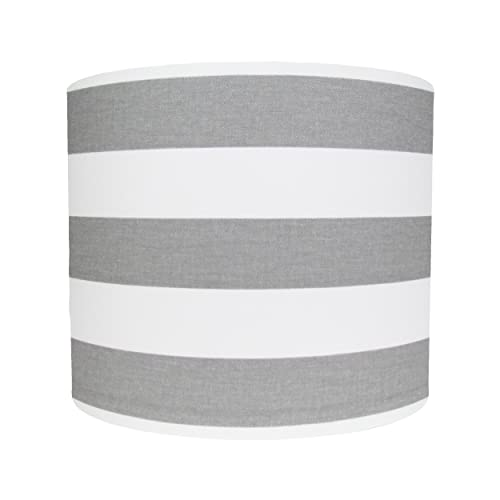 Grey and white striped lampshade amazon handmade grey and white striped lampshade mozeypictures Image collections