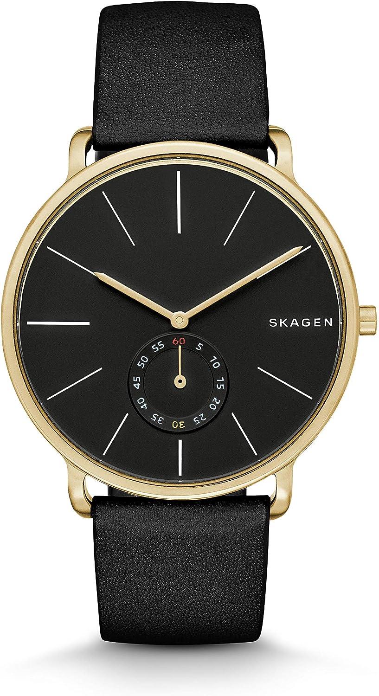 Skagen Men s SKW6217 Hagen Black Leather Watch