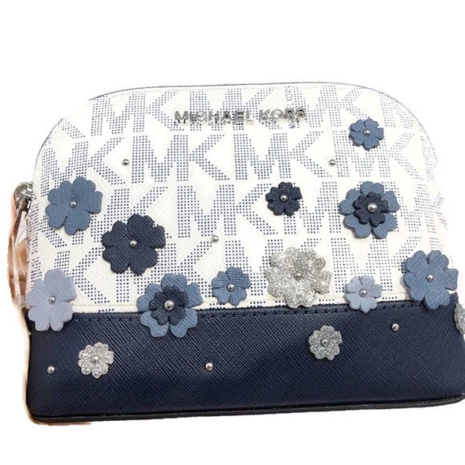 MICHAEL Michael Kors Women's EMMY Travel Pouch Make up Case Bag (Navy)