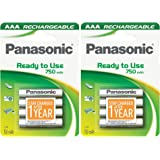 8pcs Panasonic P03E Rechargeable AAA Battery Pre-charged & Ready to use 750mAh NiMh Batteries