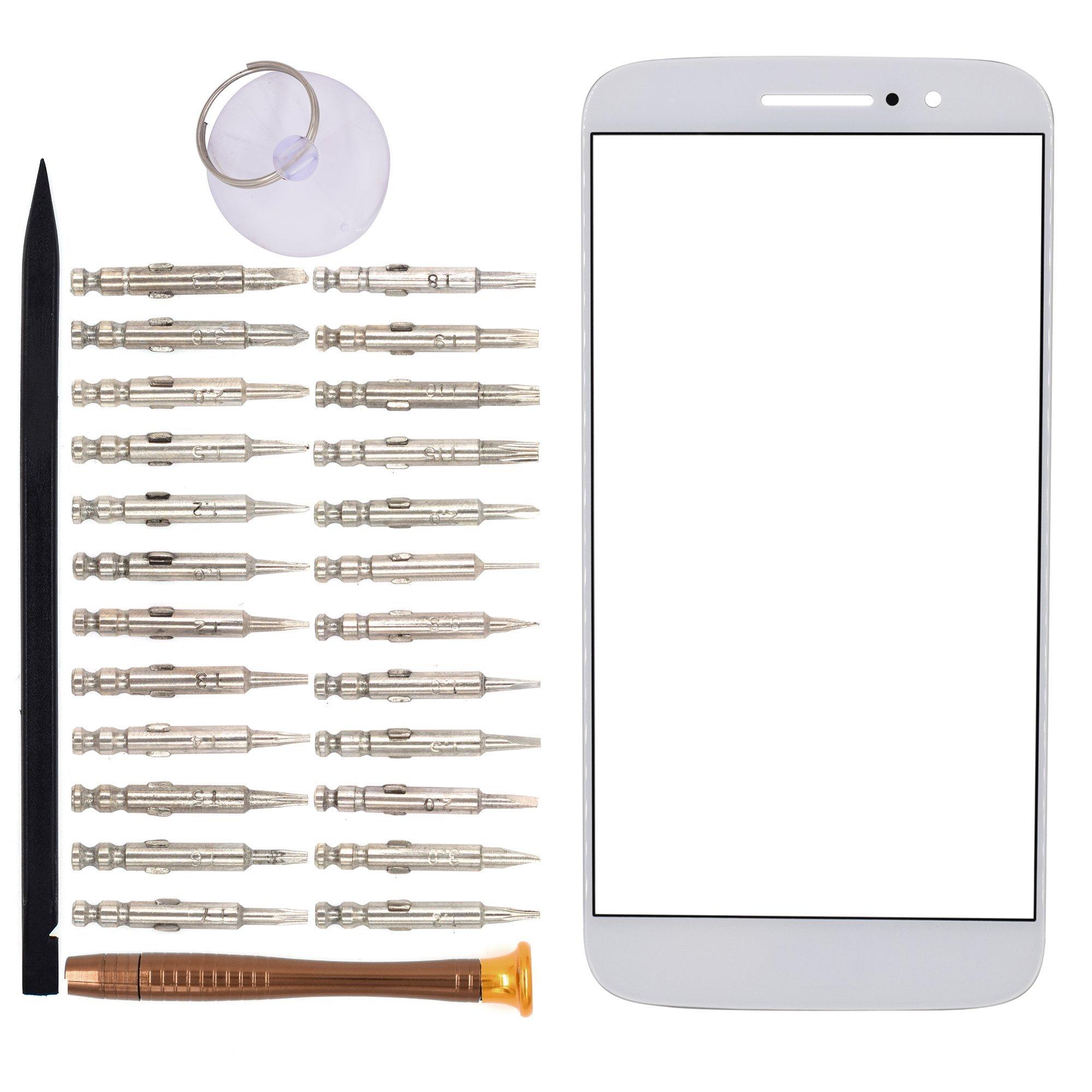 Vidrio Frente Para Motorola Moto M Blanco [goodyitou]
