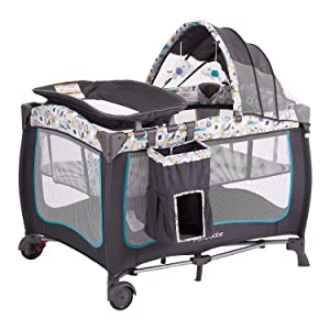 Pamo Babe Portable Baby Nursery Center Play Yard with Wheels(Blue)
