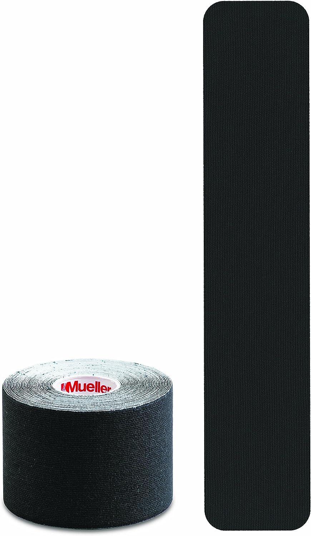 "Mueller Sports Medicine Kinesiology Tape I-Strip Roll (20 Strips), Black, 2"" x 9.75"": Sports & Outdoors"