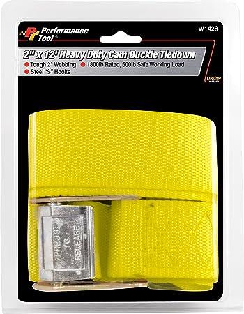Performance Tool W1428 2 x 12 Heavy Duty Cam Buckle Tie Down