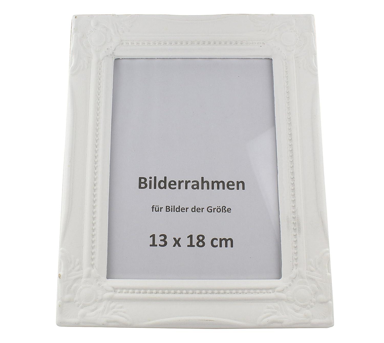Decoline Holz-Bilderrahmen mit Verzierungen weiß: Amazon.de: Küche ...