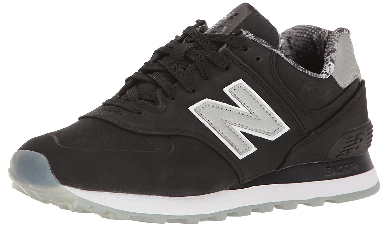 New Balance Women's WL574 Luxe Rep Sneaker B01FSIF9MW 7 B(M) US|Black/Black