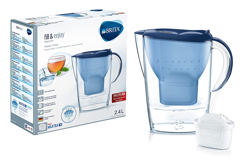 Brita Wasserfilter Marella, inkl. 1 Maxtra+ Filterkartusche blau ...