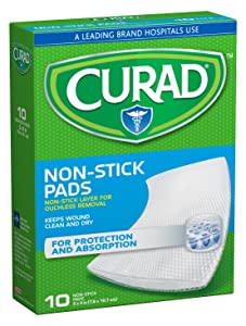 Curad Non-Stick Pads, 3 Inches X 4 Inches 10 Count