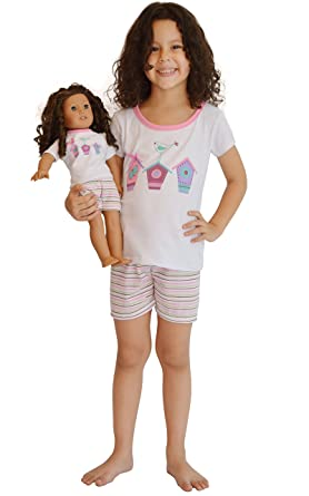 Amazon Com Girl And Doll Matching Outfit Clothes Shorts And Shirt