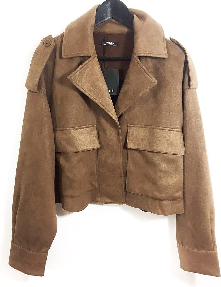 Zara - Chaqueta - para mujer marrón marrón Medium: Amazon.es: Ropa ...