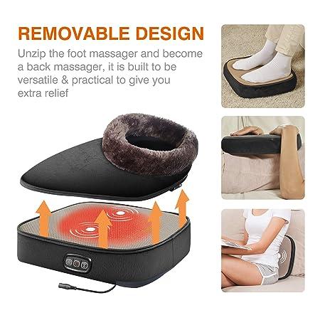 Amazon.com: Snailax 3 en 1 calentador de pies y masajeador ...