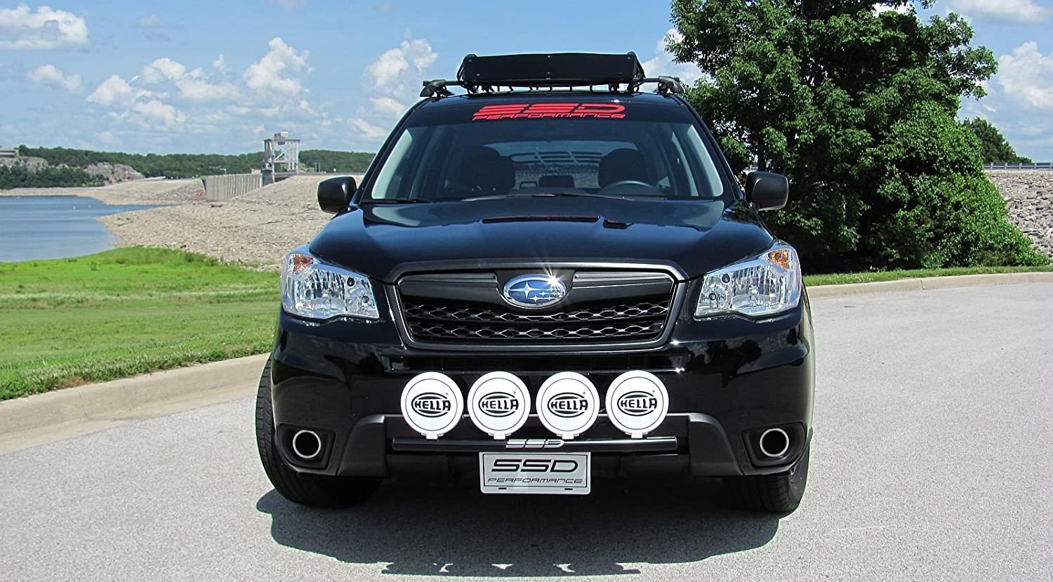 Amazon fits 2014 2017 subaru forester 25 rally light bar bull amazon fits 2014 2017 subaru forester 25 rally light bar bull bar 4 light tabs powder coated steel by ssd performance automotive aloadofball