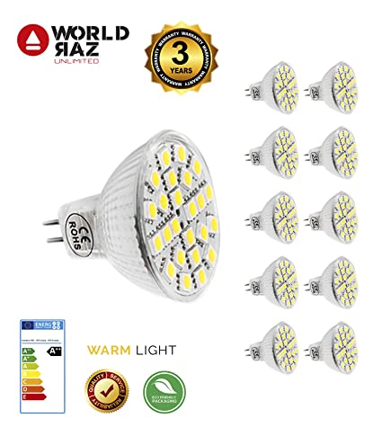 Bombillas MR16 GU5.3 led 4W 12V. Bombilla GU 5.3 luz cálida 3000K WORLD