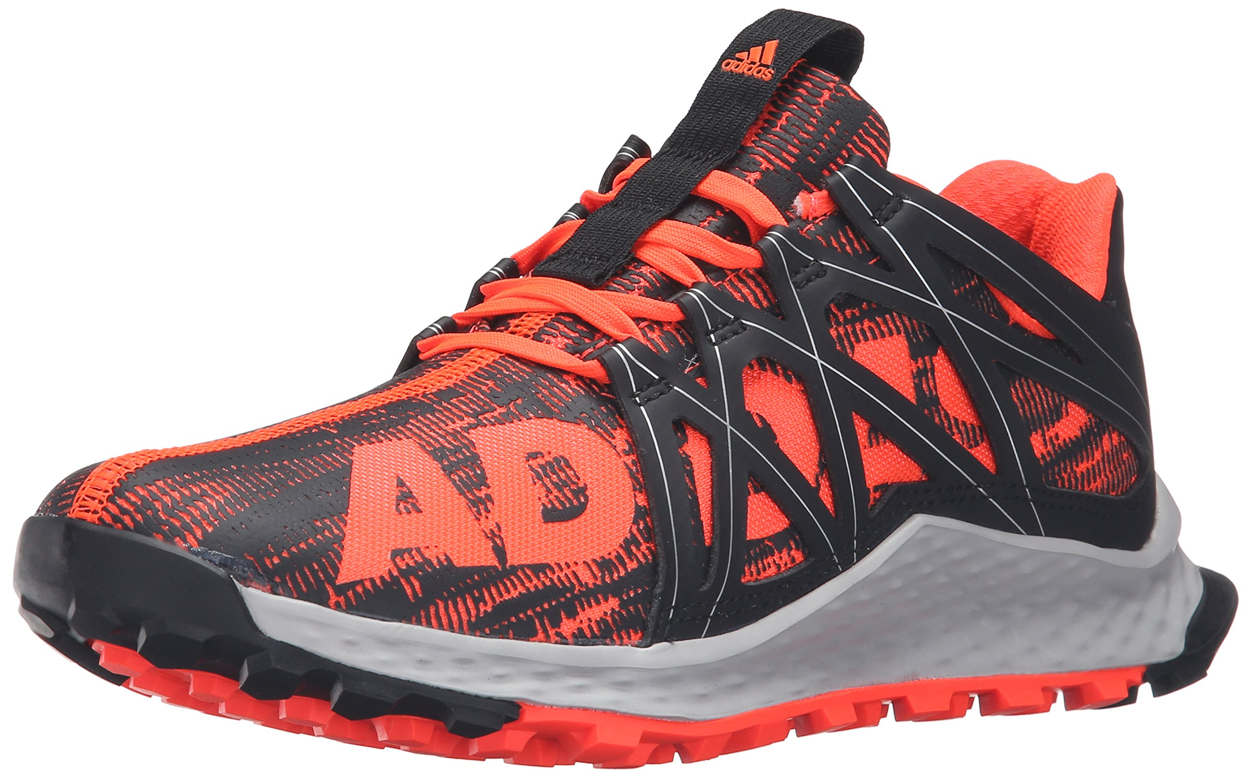 c8f83c96f Galleon - Adidas Performance Men's Vigor Bounce Trail Runner, Solar  Red/Light Scarlet/Black, 9 M US