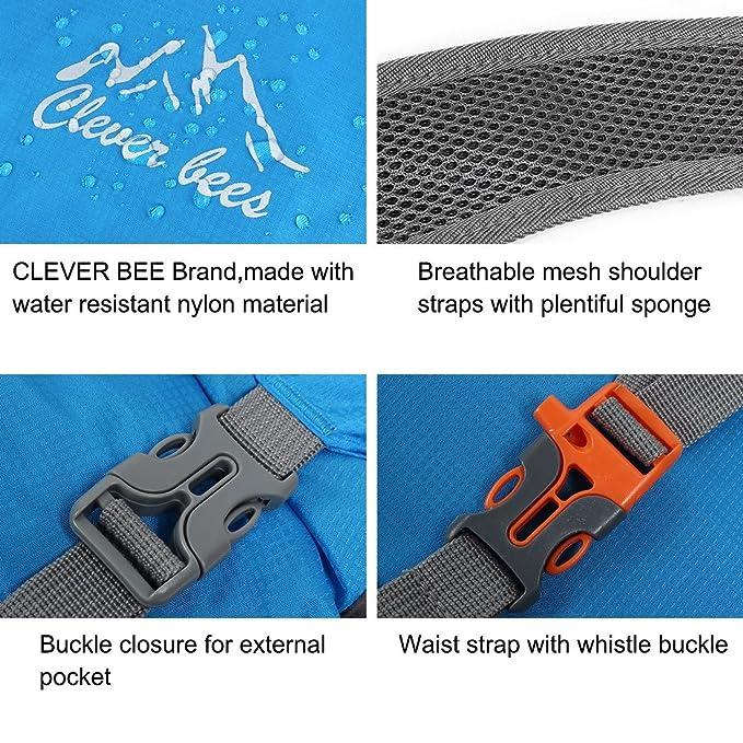 Amazon.com : eDealMax Las abejas Clever autorizado Paquete Resistente viaje Mochila Mochila Ligera Poco voluminoso que va de excursión al aire Libre de agua ...