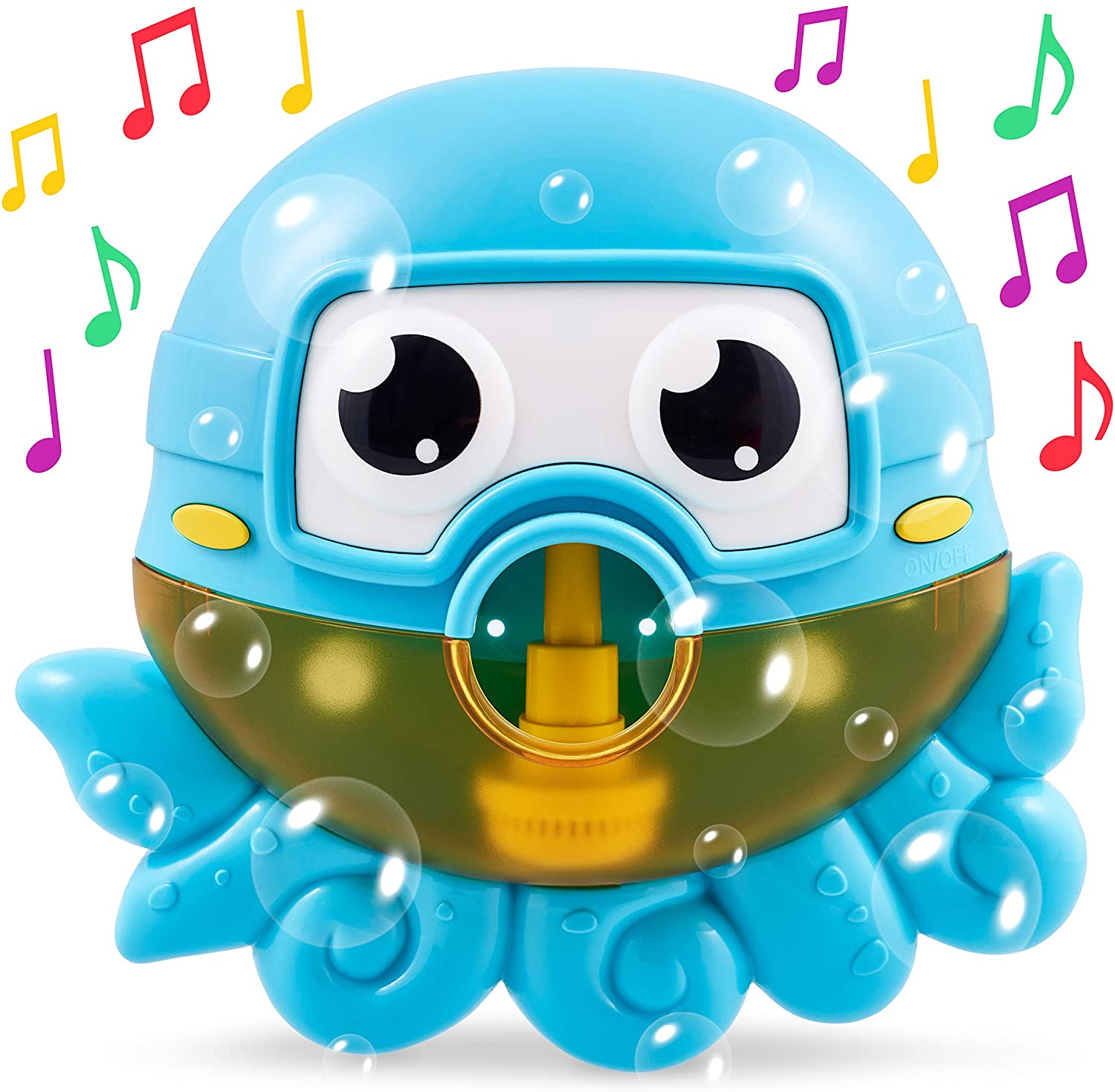 CHUCHIK Octopus Bath Toy. Bubble Bath Maker for The Bathtub. Blows Bubbles and Plays 24 Children's Songs – Baby, Toddler Kids Bath Toys Makes Great Gifts for Toddlers – Sing-Along Bath Bubble Machine