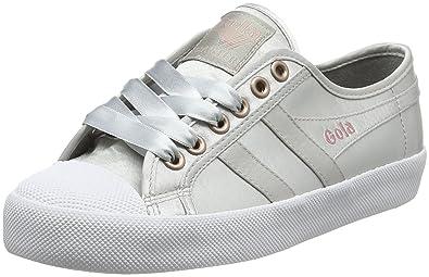 Gola Coaster Satin Silver/White, Baskets Femme, Argent (Silver/White Jw), 40 EU