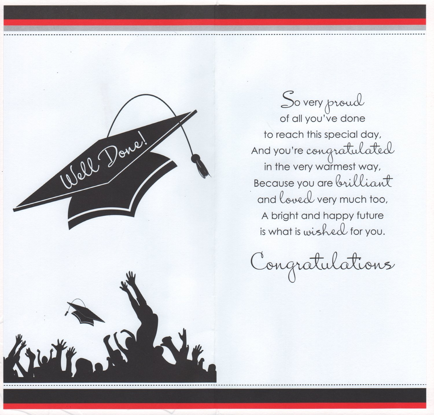son graduation card congratulations son on your graduation amazoncouk office products