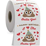 Happy Birthday Funny Toilet Paper Roll - I Love the Poop Outta You - Romantic Poop Emoji 3 Ply Tissue Paper - Funny…