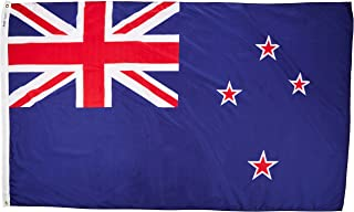 product image for Annin Flagmakers Model 196167 New Zealand Flag Nylon SolarGuard NYL-Glo, 5x8 ft, 100% Made in USA to Official United Nations Design Specifications