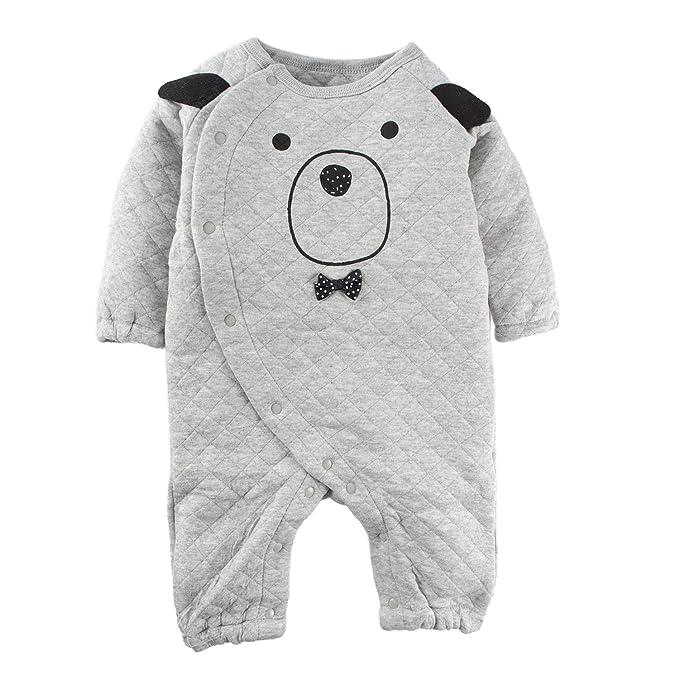 BIG ELEPHANT bebé niño o niña 1 pieza manga larga invierno grueso mameluco pijama L80