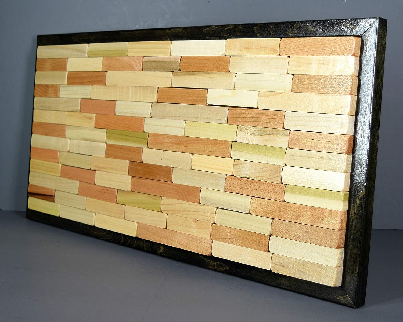 Amazon.com: Abstract wall art, repurposed geometric design, hanging ...