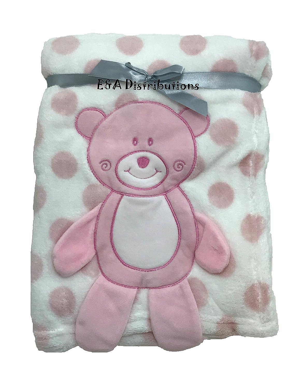 3D Pink Teddy Blanket