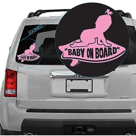 Baby On Board Girl aparece en Vans Tabla de surf adhesivo. SKU 302
