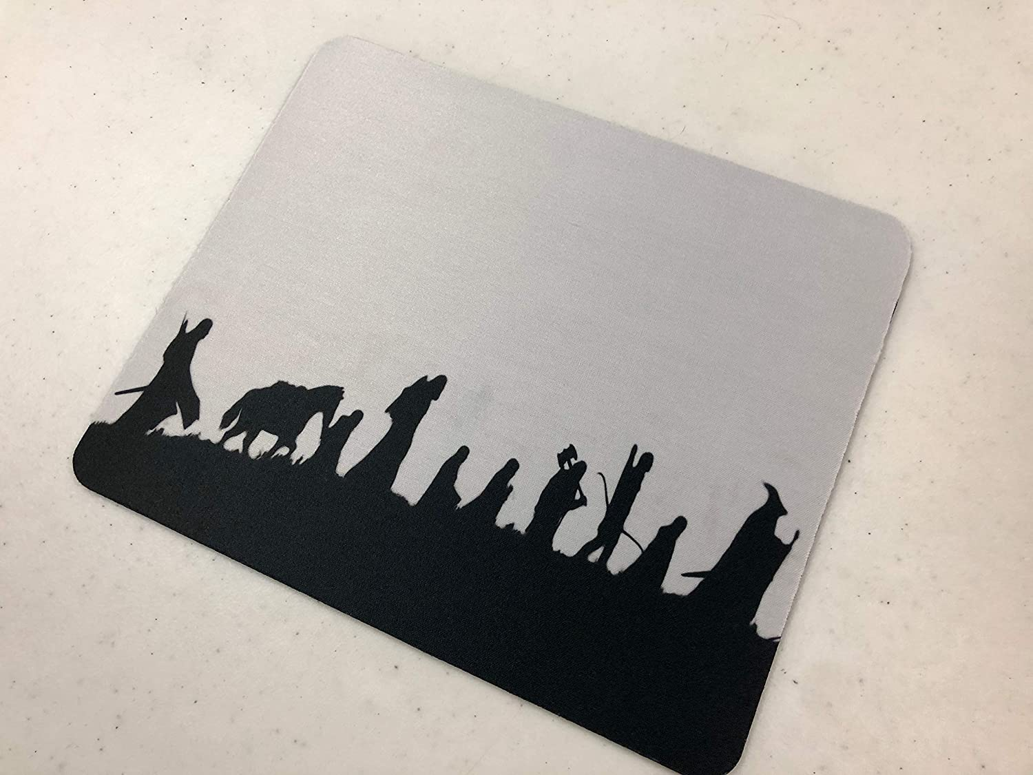 LOTR Heroes Silhouette Design Pattern Print Desktop Office Silicone Mouse Pad by Trendy Accessories
