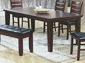 Coaster Dining Table With 18 Leaf In Dark Oak Finish