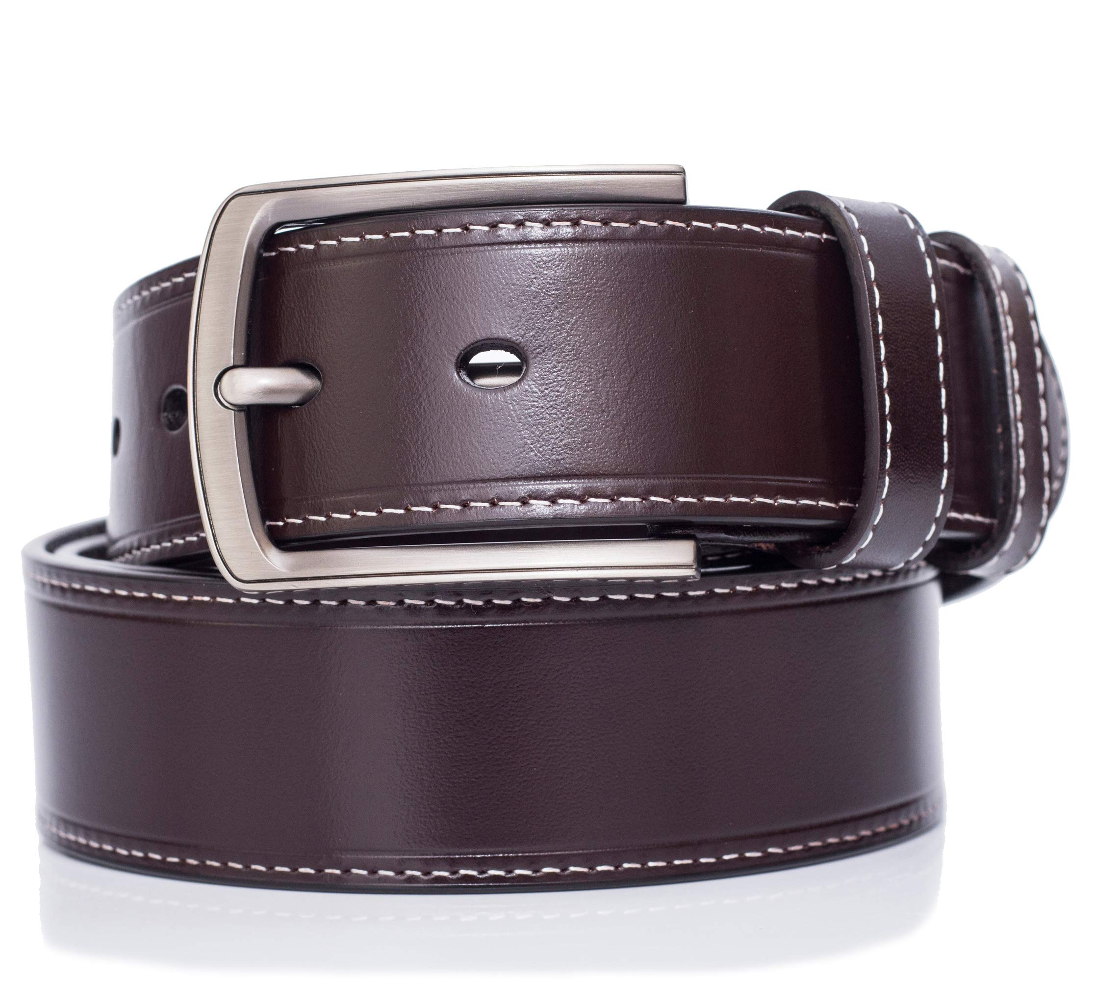 Full-grain Leather Belt For Men Top Quality, pin buckle, for 34''-36''/3BROWN XS