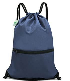 5bc04a312c1 HOLYLUCK Men   Women Sport Gym Sack Drawstring Backpack Bag (White, Purple,  Burgundy