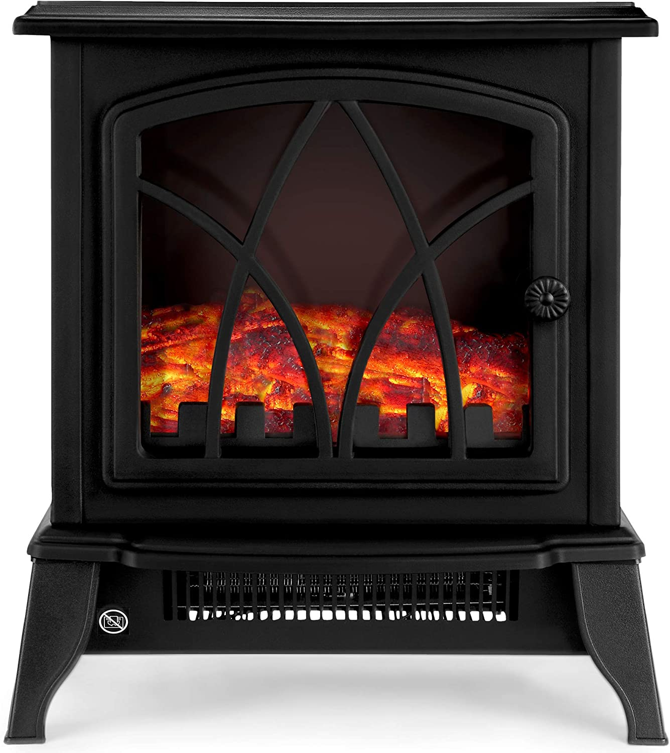Netta Electric Fireplace Stove Heater 2000w With Fire Flame Effect Freestanding Portable Electric Log Wood Burner Effect Black Amazon Co Uk Diy Tools