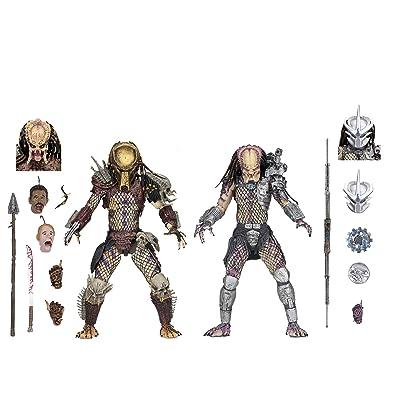 "NECA - Predator - 7"" Scale Action Figures - Ultimate Bad Blood vs Enforcer 2-Pack: Toys & Games"
