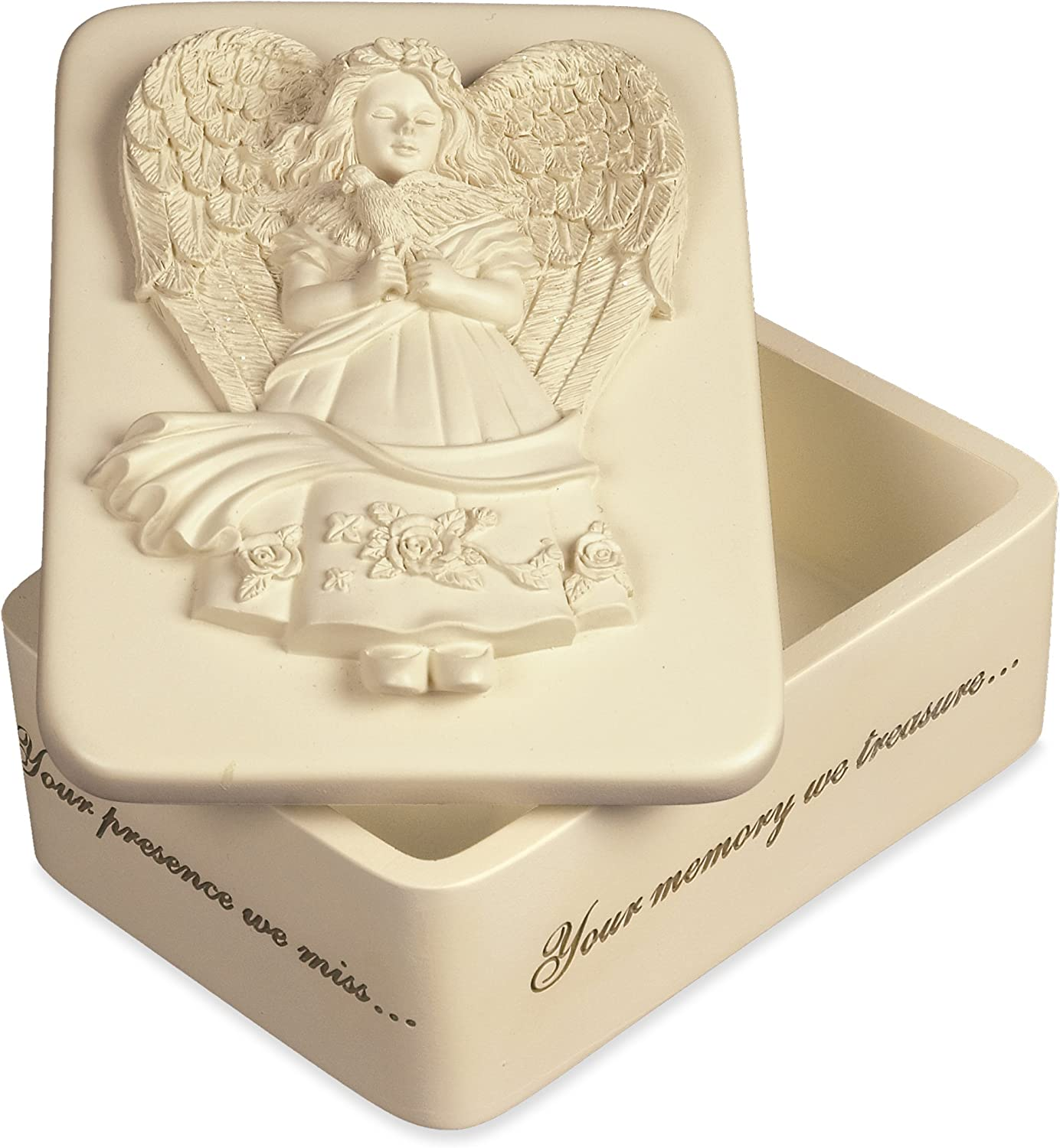 AngelStar Angel of Peace Keepsake Box, 3-1/4 by 4-1/2 by 2-Inch, 8 Cubic Inch