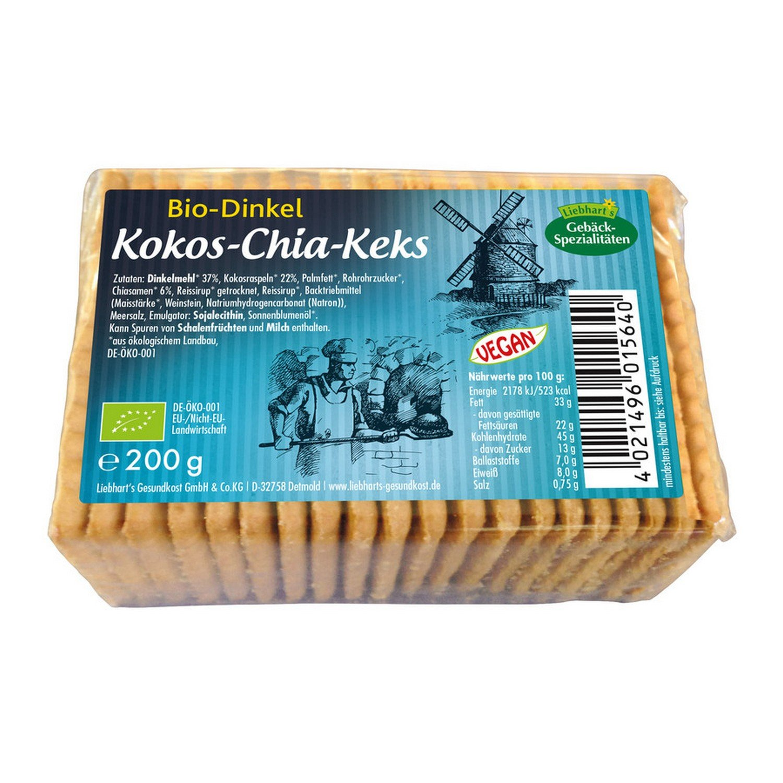 Liebhart´s Gesundkost Bio-Dinkel-Chia-Keks - Bio - 200g: Amazon.de ...
