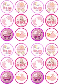 Its A Girl Baby Shower/Birth Mix Edible PREMIUM THICKNESS SWEETENED VANILLA, Wafer Rice