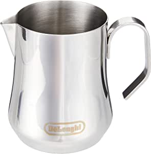 De'Longhi  Milk Pitcher Frothing Jug 400ML (Silver)