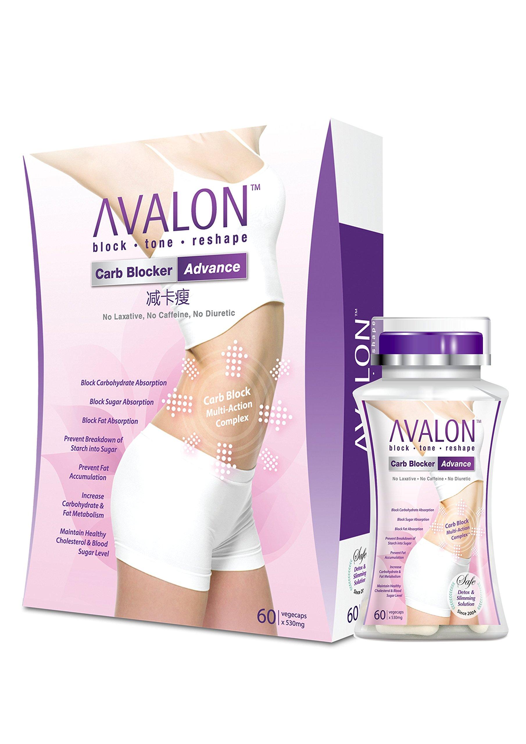 AvalonTM Carb Blocker Advance • Block, Tone, Reshape • No Laxative, No Caffeine, No Diuretic • Vegetarian Certified • 60 Capsules
