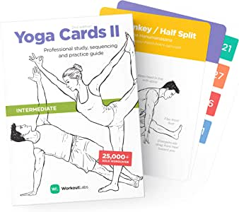 WorkoutLabs Yoga Cards II – Intermediate: Professional Visual Study, Class Sequencing & Practice Guide Vol.2 · Plastic Yoga Flash Cards / Yoga Deck with Sanskrit