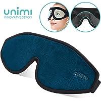 Unimi Augenmaske zum Schlafen, 3D Konturierte Schlafmaske und Augenbinde f¨¹r Frauen, M?nner, Superweich und bequem, 100% Licht blockierend. 3D-Augenschutz f¨¹r Reisen, Schichtarbeit, Nickerchen.