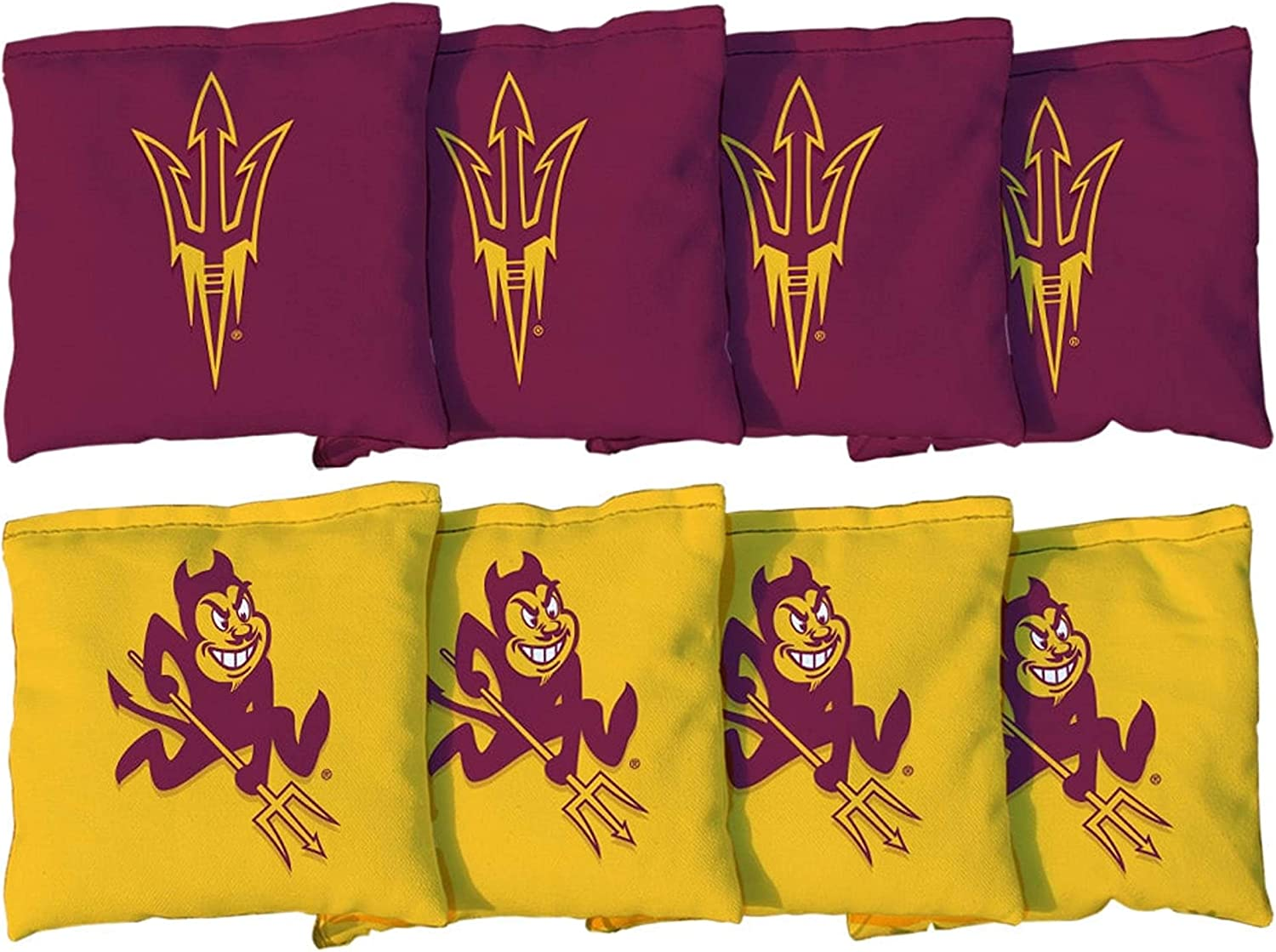 Victory Tailgate NCAA Collegiate Regulation Cornhole Game Bag Set (8 Bags Included, Corn-Filled) - Arizona State University Sun Devils 818kdemHr9L