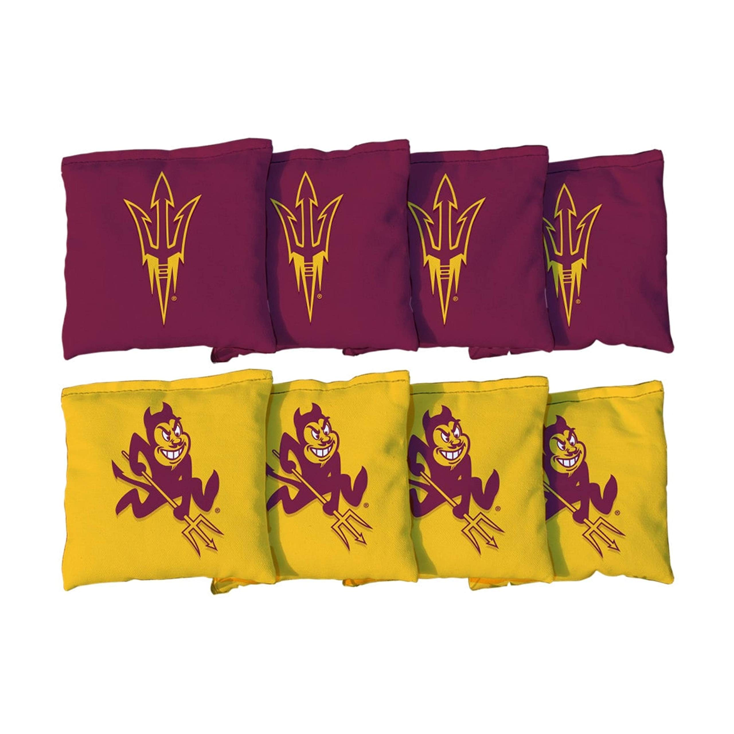 Victory Tailgate NCAA Regulation Cornhole Game Bag Set (8 Bags Included, Corn-Filled) - Arizona State University Sun Devils